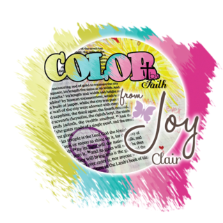 Color by faith logo for joy clair