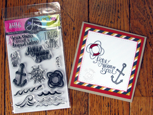 Hope anchors me card & stamps