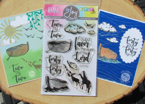 Noah's Ark stamp set and both cards