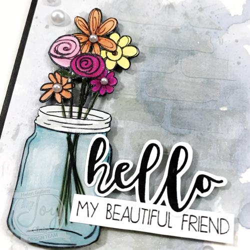 JoyClair-HelloMyBeautifulFriend-MixedMediaCard-HelenGullett-01