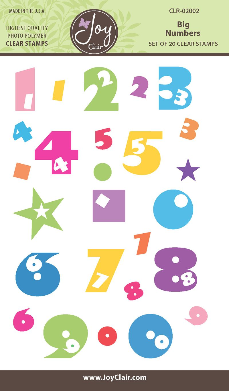 Big Numbers.Clear Stamp.Joy Clair.CLR02002