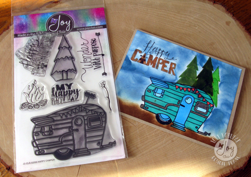 Happy Camper card & stamp set