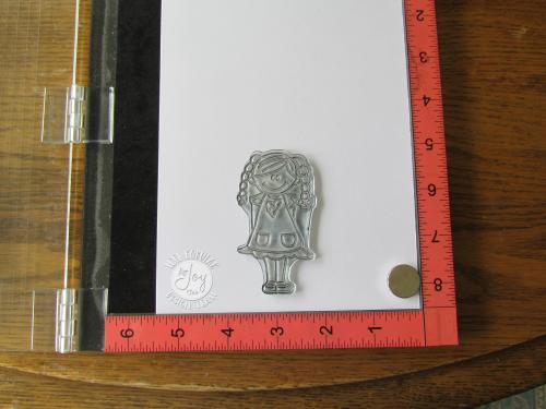 Girl stamp