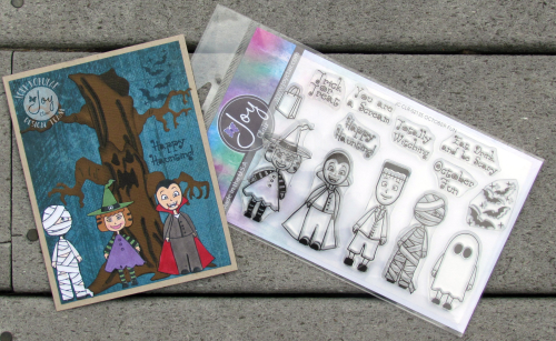 HALLOWEEN CARD WITH STAMPS