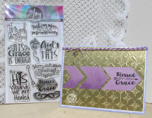 Faith Quotes stamp set with card