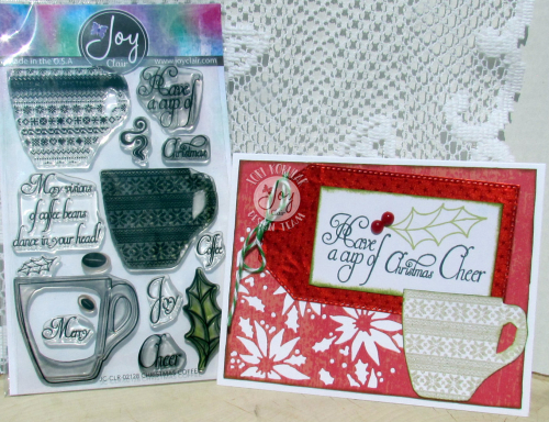 Christmas Coffee Stamp Set with Card