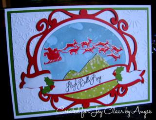 Joy Clair.Santa Coming.Stamp.FLOWERDISCO