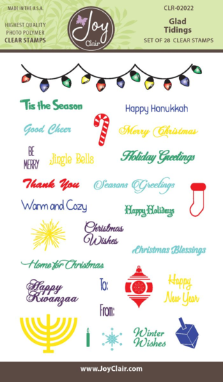 JC CLR 02022 Glad Tidings Clear Stamp packaging