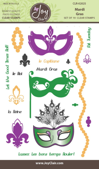 JC CLR 02025 Mardi Gras Clear Stamp packaging