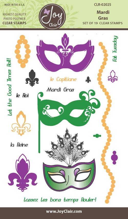 JC CLR 02025 Mardi Gras Clear Stamp packaging