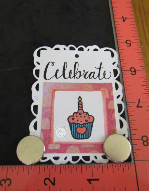 Cupcake tag with celebrate