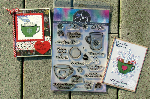 Christmas Cocoa cards with stamps