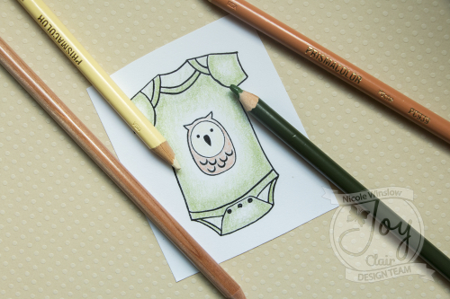 Joy Clair New Baby Coloring Onesie