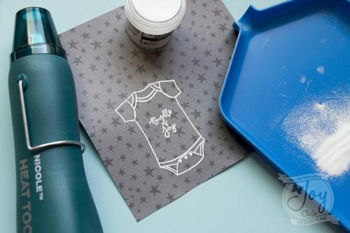 Joy clair new baby shaker misti stamp