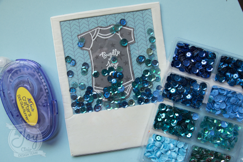 Joy clair new baby shaker sequins