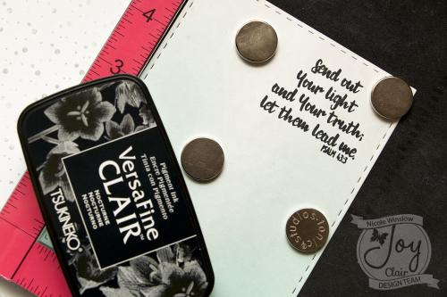 Joy clair lighthouse stamp sentiment