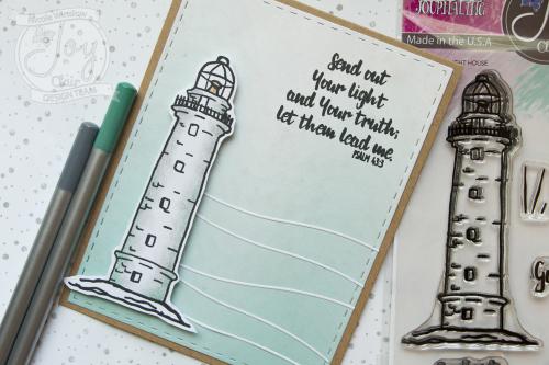 Joy Clair Lighthouse Stamp