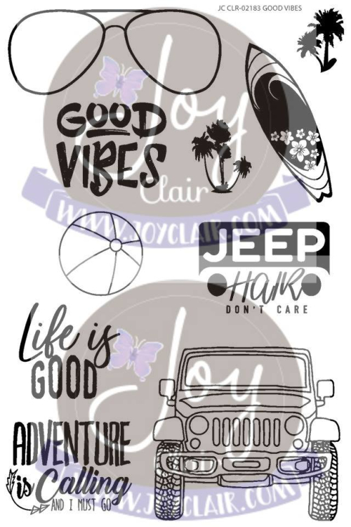 Jc good vibes stamp set