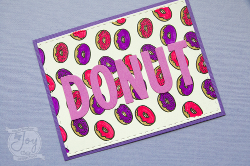 Card making day joy clair donut letters