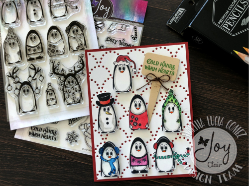 i love christmas and today the design team of joy clair stamps is starting a complete week of christmas in july here is my post for christmas in july with