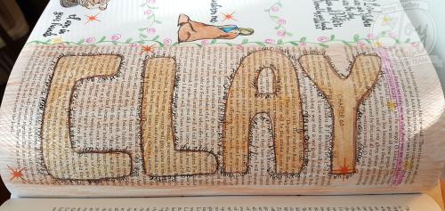 Clay open book