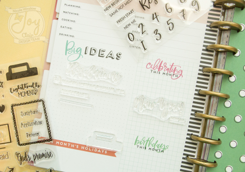 Joy clair planner stamps
